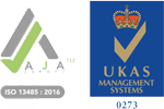 Aja ISO 13485:2016 - UKAS Management Systems 0273
